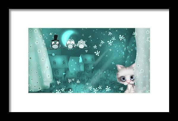 Kitty Framed Print featuring the digital art Window by Antonia Kouzou
