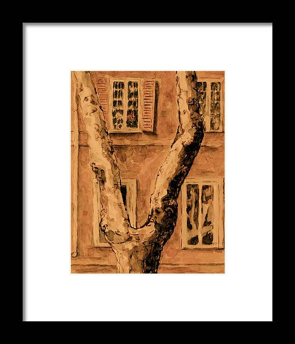 Rome Framed Print featuring the painting Windows In Rome by Dan Earle