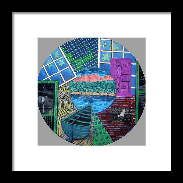 Windows Framed Print featuring the painting Windows by Susan Stewart
