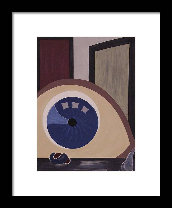 Modern Framed Print featuring the painting Windows To The Soul by Sandy Bostelman