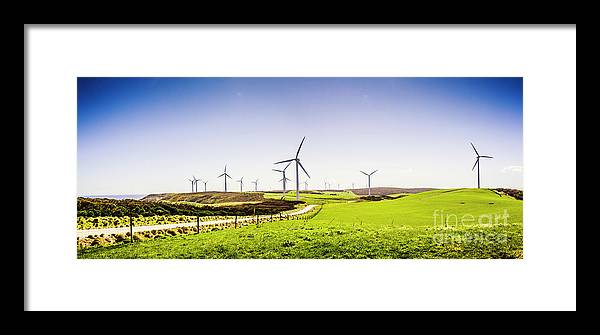 Landscape Framed Print featuring the photograph Winds From West Woolnorth by Jorgo Photography - Wall Art Gallery