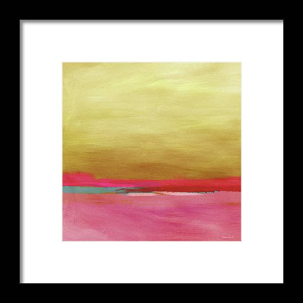 Abstract Framed Print featuring the mixed media Windswept Sunrise- Art by Linda Woods by Linda Woods
