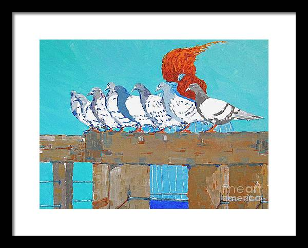 Pier Framed Print featuring the painting Windward by Art Mantia