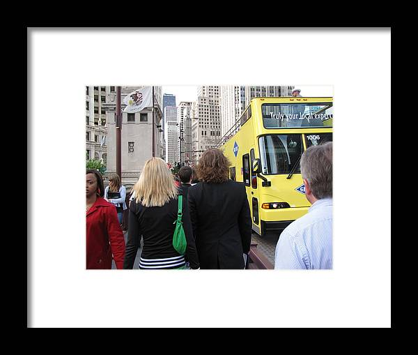 Big City Framed Print featuring the photograph Windy City Walkabout by Sylvia Wanty