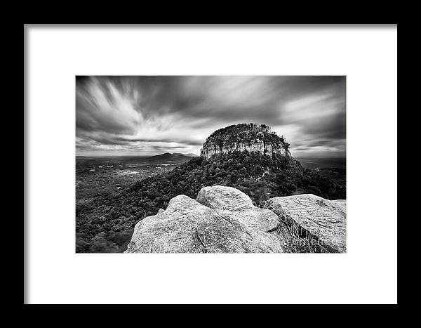 Black And White Framed Print featuring the photograph Windy Day by Patrick M Lynch