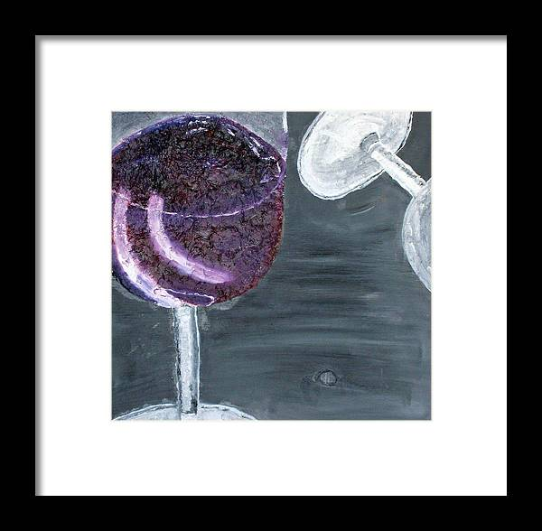 Still Life Paintings Framed Print featuring the painting Wine From The Vine To The Glass by Leslye Miller