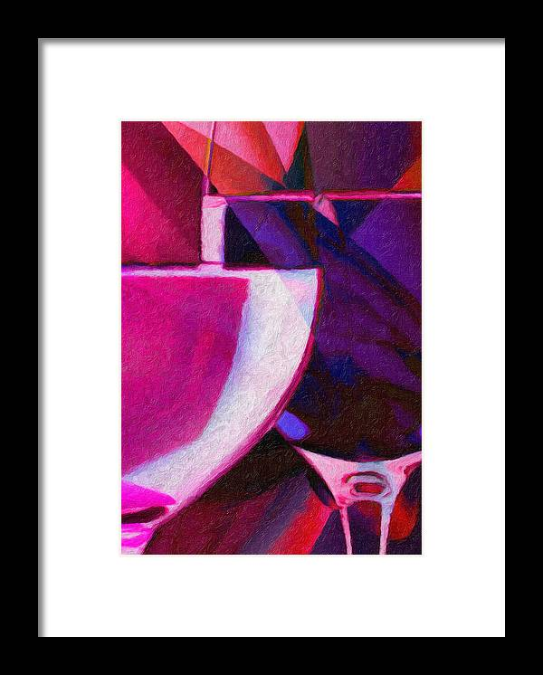 Wine Glass Framed Print featuring the painting Wine Glass 1 by Patto B