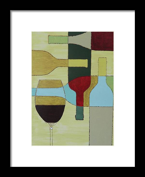 Painting Framed Print featuring the painting Wine by Ken Pursley