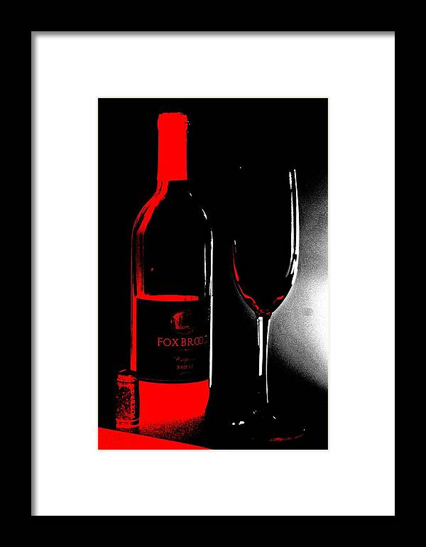 Wine Framed Print featuring the photograph Wine Time by Donna Bentley