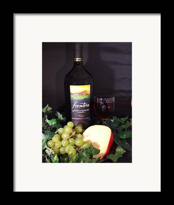 Wine Framed Print featuring the photograph Wine With Cheese by Judy Waller