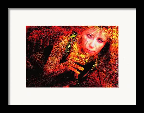 Clay Framed Print featuring the photograph Wine Woman And Fall Colors by Clayton Bruster