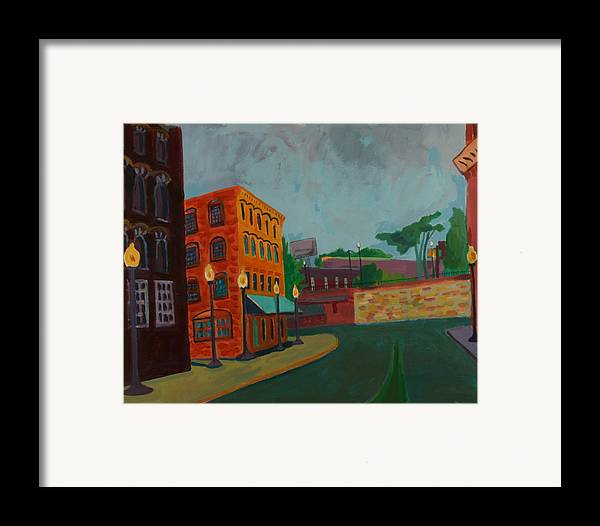 Cityscape Framed Print featuring the painting Wingate Street by Debra Bretton Robinson