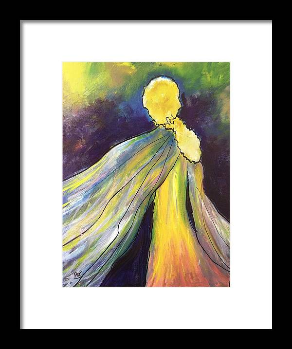 Goddess Framed Print featuring the painting Winged Goddess Update by Patricia Taylor