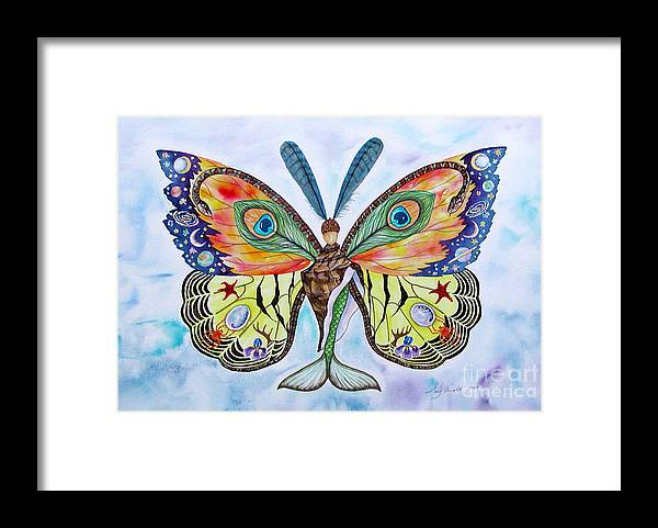 Butterfly Framed Print featuring the painting Winged Metamorphosis by Lucy Arnold