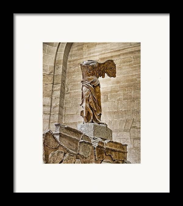 France Framed Print featuring the photograph Winged Victory by Jon Berghoff