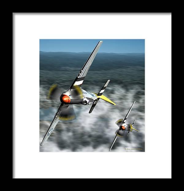 Jim Coe Framed Print featuring the digital art Wingman by Jim Coe