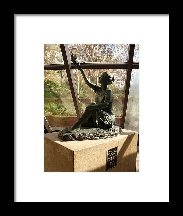 Sculpture Framed Print featuring the photograph Wings Of Hope And Shadows by Warren Thompson