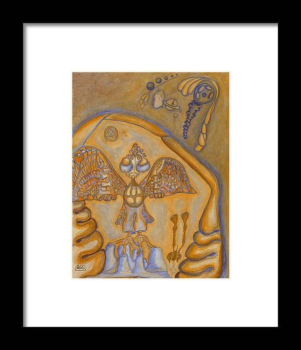 Fantasy Framed Print featuring the painting Wings Of It by      Gillustrator