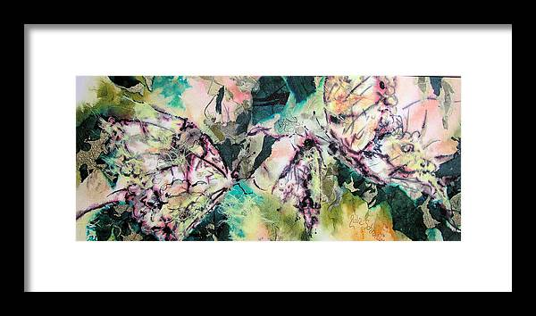 Semiabstract Framed Print featuring the painting Wings Of Summer by Julie Schroeder