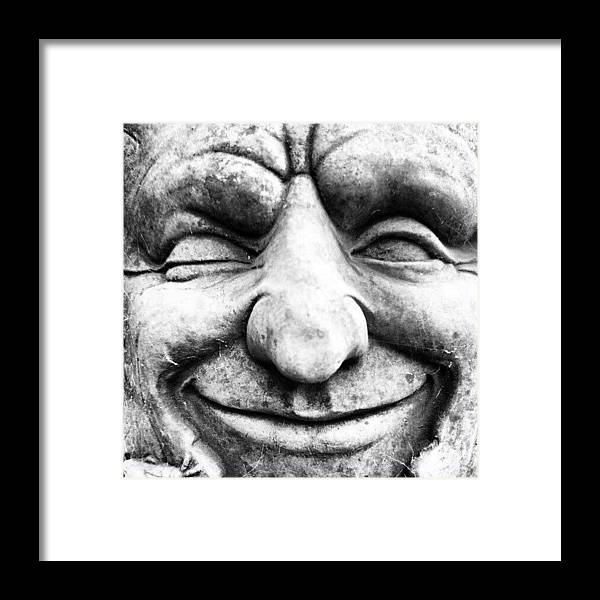 Black And White Framed Print featuring the photograph Wink by Gary Stringer
