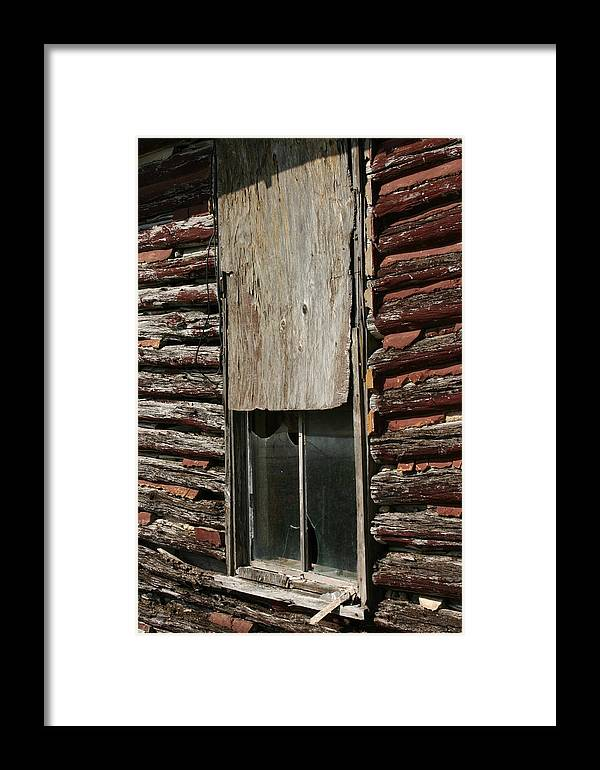 Framed Print featuring the photograph Winslow Cabin Window by Curtis J Neeley Jr