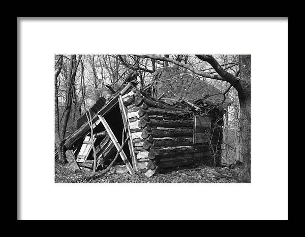 Wood Framed Print featuring the photograph Winslowcabinhorizontal by Curtis J Neeley Jr