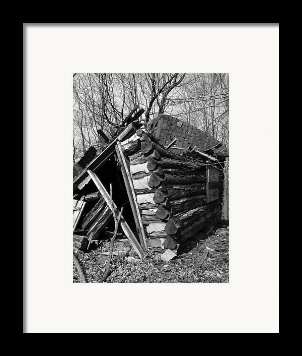 Framed Print featuring the photograph Winslowlogcabin by Curtis J Neeley Jr