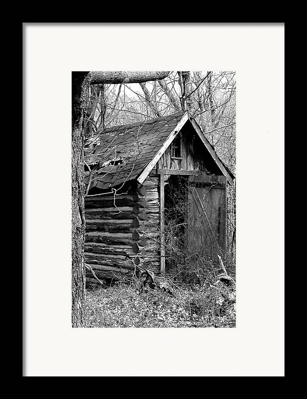 Ansel Adams Framed Print featuring the photograph Winslowlogouthouse-11x17 by Curtis J Neeley Jr