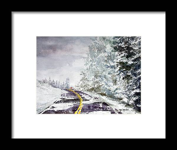 Winter Framed Print featuring the painting Winter 113015 by Ken Marsden