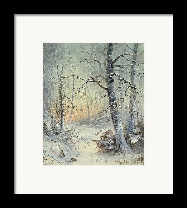 Winter Framed Print featuring the painting Winter Breakfast by Joseph Farquharson