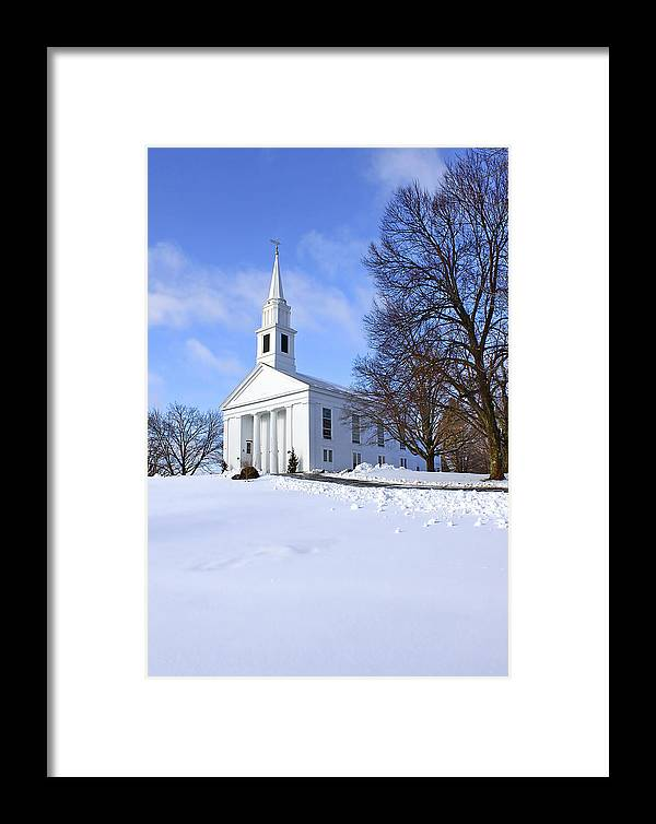 Beautiful Framed Print featuring the photograph Winter Church by Evelina Kremsdorf
