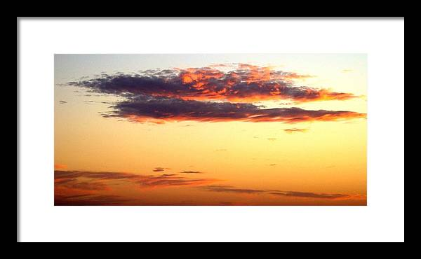 Sunset Framed Print featuring the photograph Winter Clouds One by Ana Villaronga