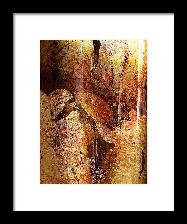 Abstract Framed Print featuring the digital art Winter Departs by Florene Welebny