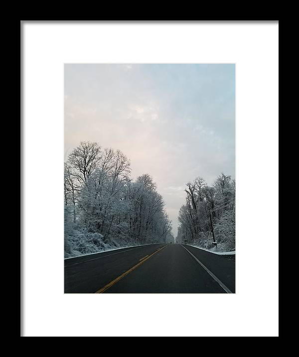 Winter Framed Print featuring the photograph Winter Drive by Kai Velasquez