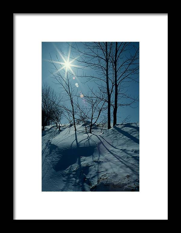 Winter Framed Print featuring the photograph Winter Glow by Raju Alagawadi