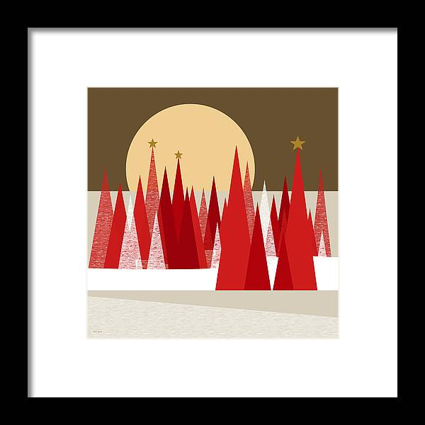Winter Holiday Framed Print featuring the digital art Winter Holiday by Val Arie