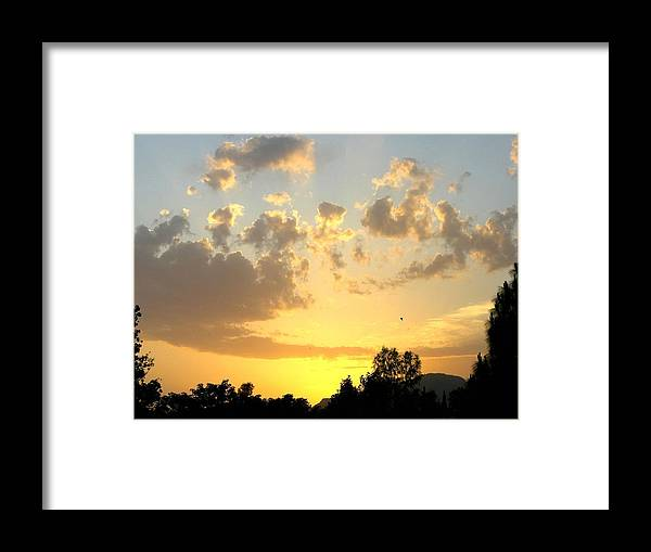 Sunset Framed Print featuring the photograph Winter In Pakistan by Caroline Urbania Naeem