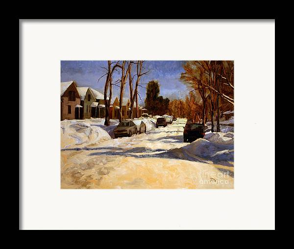 Snow Framed Print featuring the painting Winter In The Highlands by Tate Hamilton
