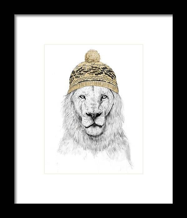 Lion Framed Print featuring the mixed media Winter Is Coming by Balazs Solti
