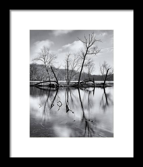 Bucks County Framed Print featuring the photograph Winter Island by David Oakill