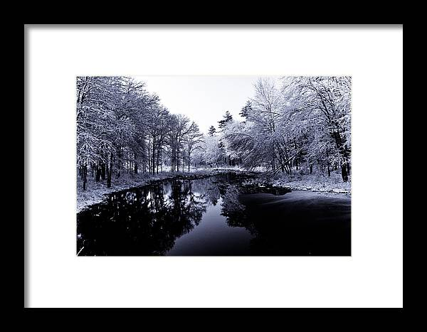 Winter Framed Print featuring the photograph Winter Landscape by Edward Myers