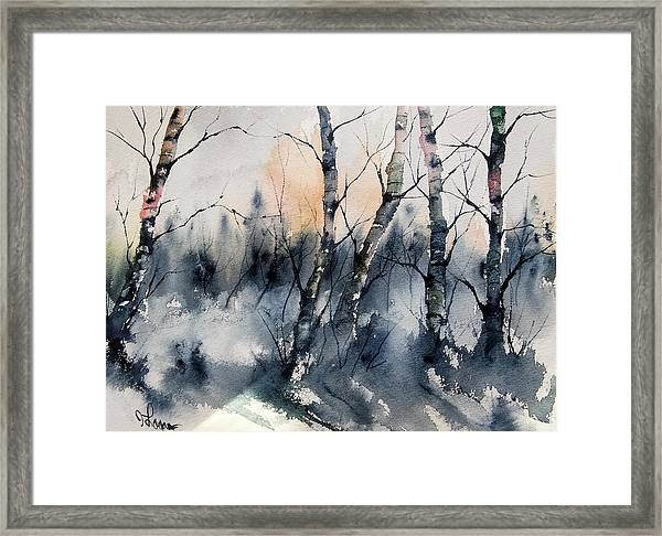 Winter Landscape Framed Print By James Lagasse