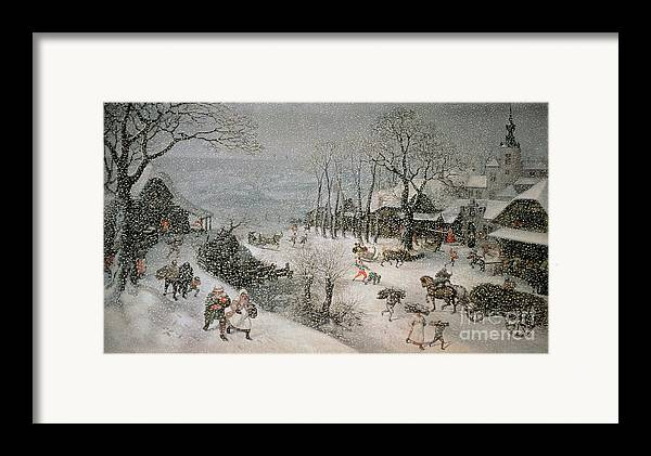 Snowy Framed Print featuring the painting Winter by Lucas van Valckenborch