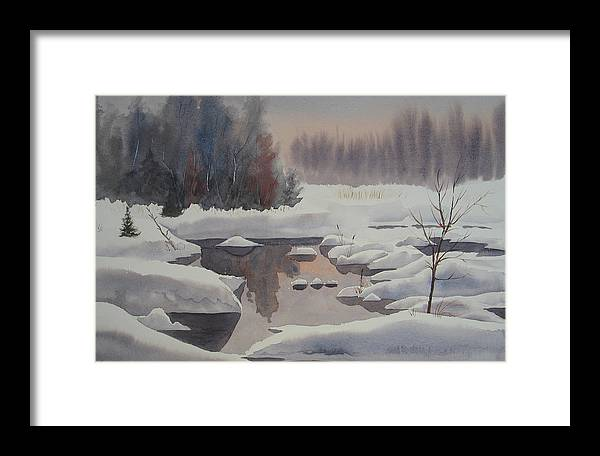 Winter Framed Print featuring the painting Winter Magic by Debbie Homewood
