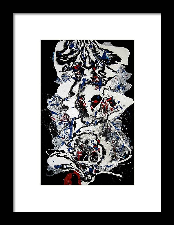 Abstract Framed Print featuring the painting Winter Meltdown by Paul Freidin