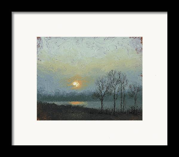 Arkansas Framed Print featuring the painting Winter Mist by Timothy Jones