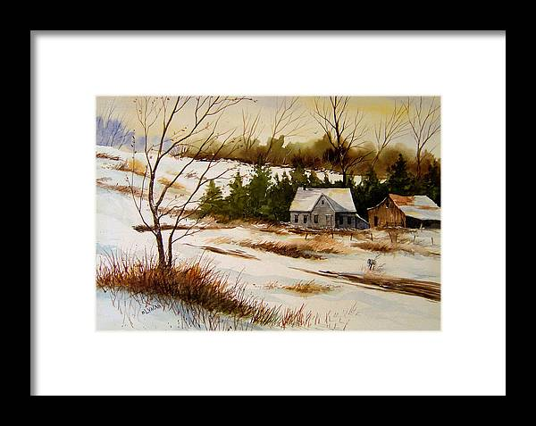 Landscape Framed Print featuring the painting Winter Morning by Brooke Lyman