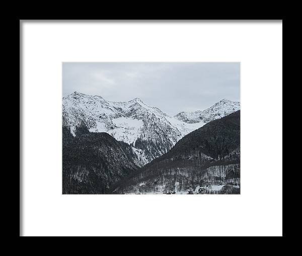 Mountains Framed Print featuring the photograph Winter Mountains by Tiziana Verso
