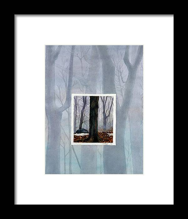 Winter Framed Print featuring the painting Winter by Nancy Ethiel