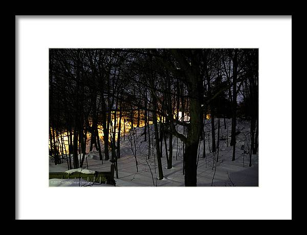 Landscape Framed Print featuring the photograph Winter Night by Donna Fonseca Newton